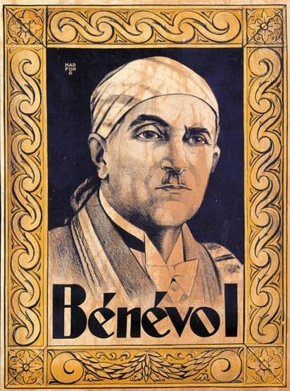 benevol-benevol-lithographie-en-sepia-illustree-dun-portrait-de-benevol