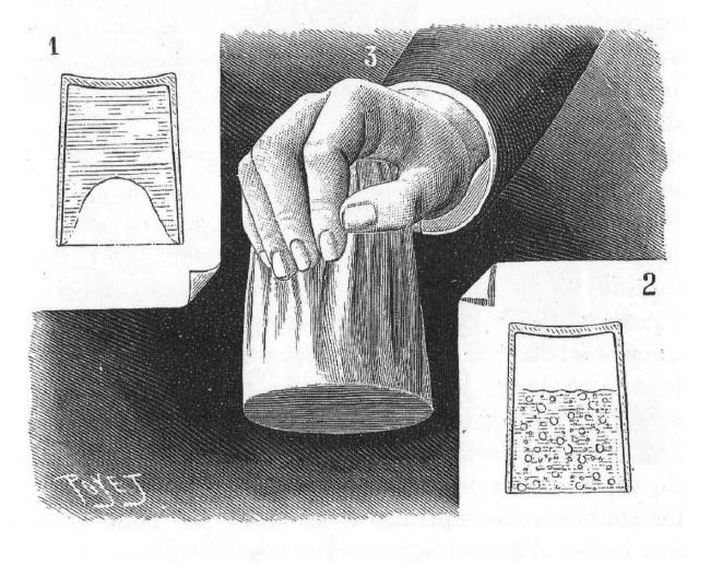 Faire bouillir de l'eau froide à la chaleur de la main.