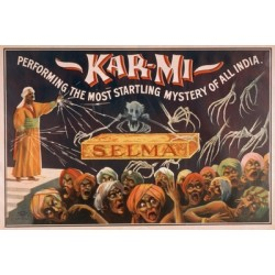 Kar-Mi. Performing the most startling mystery of all india. Affiche de spectacle