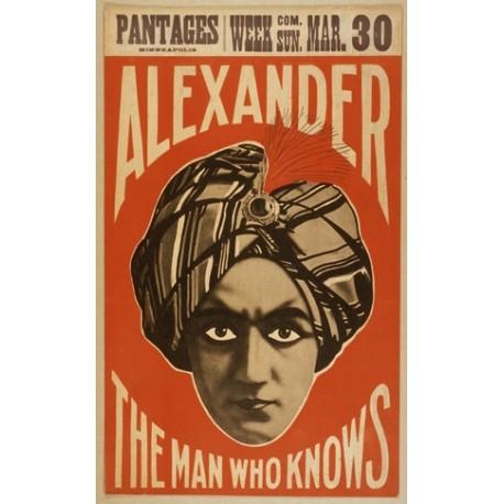 Affiche de spectacle Alexander the man who knows