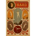 Affiche de spectacle, jonglage équilibrisme. The marvellous Bard phenomenal trick swinging wire artist