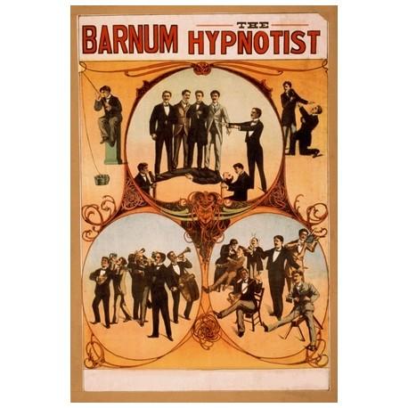 Barnum hypnotist. Affiche de Spectacle de magie