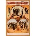 Barnum hypnotist. Affiche de Spectacle de magie. Hypnose de spectacle
