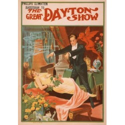 Dayton The great daytn show. Affiche de Spectacle de magie. Hypnose de spectacle