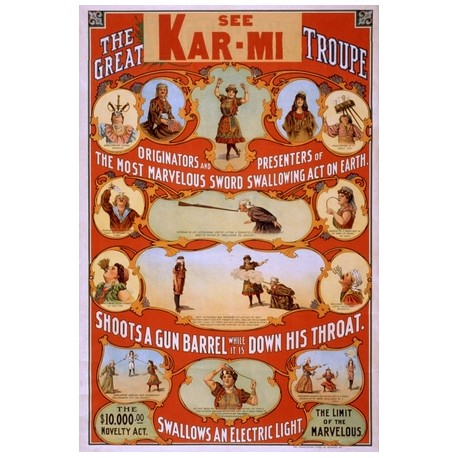 Kar-Mi_the_great_troupe shoots a gun barrel