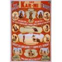 Kar-Mi_the_great_troupe shoots a gun barrel.Affiche de spectacle