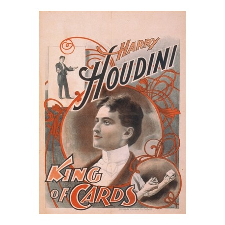 harry houdini king of cards. Affiche