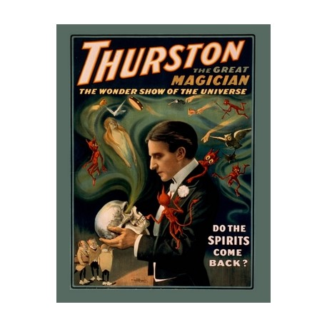 Thurston do the spirits come back.Affiche de spectacle