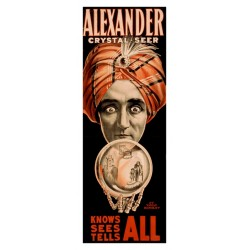 Alexander Crystal Seer Knows sees tells all. Affiche