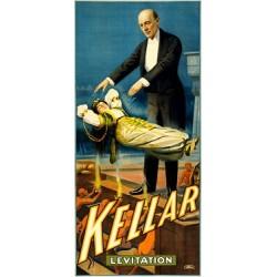 Poster/Affiche vintage du magicien KELLAR. Lévitation d'une femme