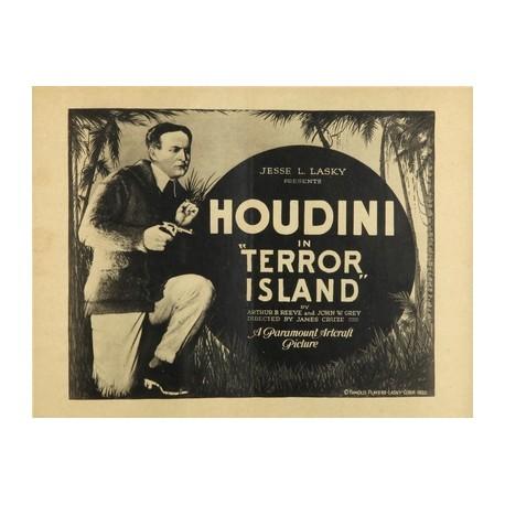Houdini in terror island. Affiche