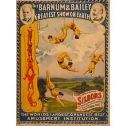 Affiche Barnum les acrobates Silbons
