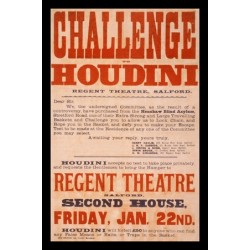Affiche challenge to Houdini regent theatre salford