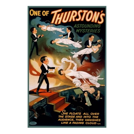 THURSTON'S ASTOUDING MYSTERIES. AFFICHE DU SPECTACLE