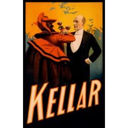 KELLAR porte un toast avec le diable. Poster/affiche  dimentions 46cm x 72cm