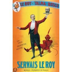 Affiche de spectacle de magie. Servais Lee Roy