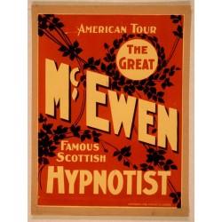 Affiche vintage hypnose. Taille de l'affiche 50 x 66 cm. en jpeg