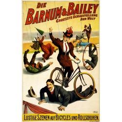 Affiche Du Cirque Barnum, Vélos et acrobates