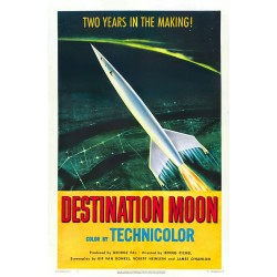 Destination Moon. Affiche de filmes de science-fiction. Taille de l'affiche 50 cm x 80 cm
