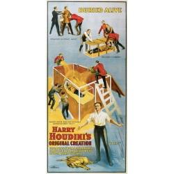Affiche Houdini. L'art de l'évasion ou escapologie. Taille de l'affiche  58 cm x 127 cm. En jpeg