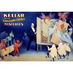 Kellar. Affiche de spectacle de magie. Taille de l'affiche 92 x 60 cm. en jpeg