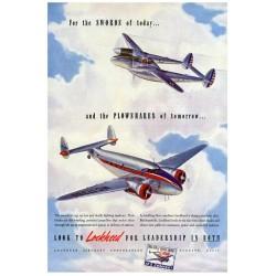 Publicité pour les avions lockheed martin