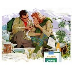 Publicité pour des cigarettes vintage. Taille de l'affiche 92 cm. x 71 cm. en jpeg