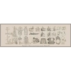 Gravure planche n°1 du NOUVEAU MANUEL MAGIE NATURELLE et  AMUSANTE. 60 cm x 180 cm