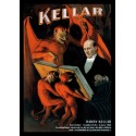 Affiche du magicien KELLAR. Affiche format A3, 297 x 420 mm