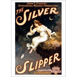 Affiche silver slipper. Affiche format A3, 297 x 420 mm