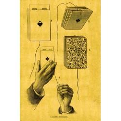 """Gravure tour de magie """"la carte obéissante"""""""