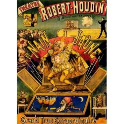 Affiche du théatre de Robert-Houdin. Le nain jaune