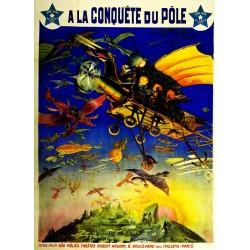 Affiche du théatre de Robert-Houdin. A la conquète du pôle.
