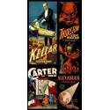 Poster des magiciens Kellar, Thurson, Carter, Alexander. 52cm x 79cm