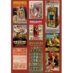 Harry Houdini Poster/Affiche. 52cm x 79cm