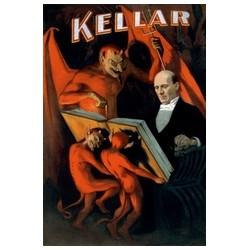 """Affiche KELLAR """"grimoire et diablotins"""""""